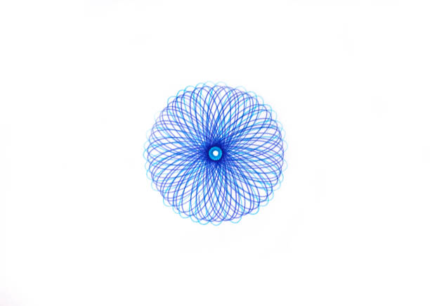 abstract spirograph writing designs round symbol - watermark stock photos and pictures