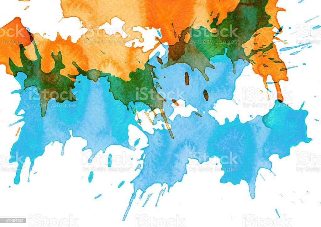 Abstract splash watercolor royalty-free stock photo