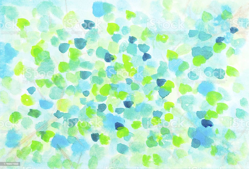 Abstract spring leaves watercolor design royalty-free stock photo