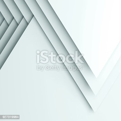 istock Abstract square cg background, 3d layers 927319984