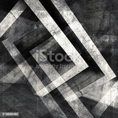 istock Abstract square concrete 3 d background 516688460