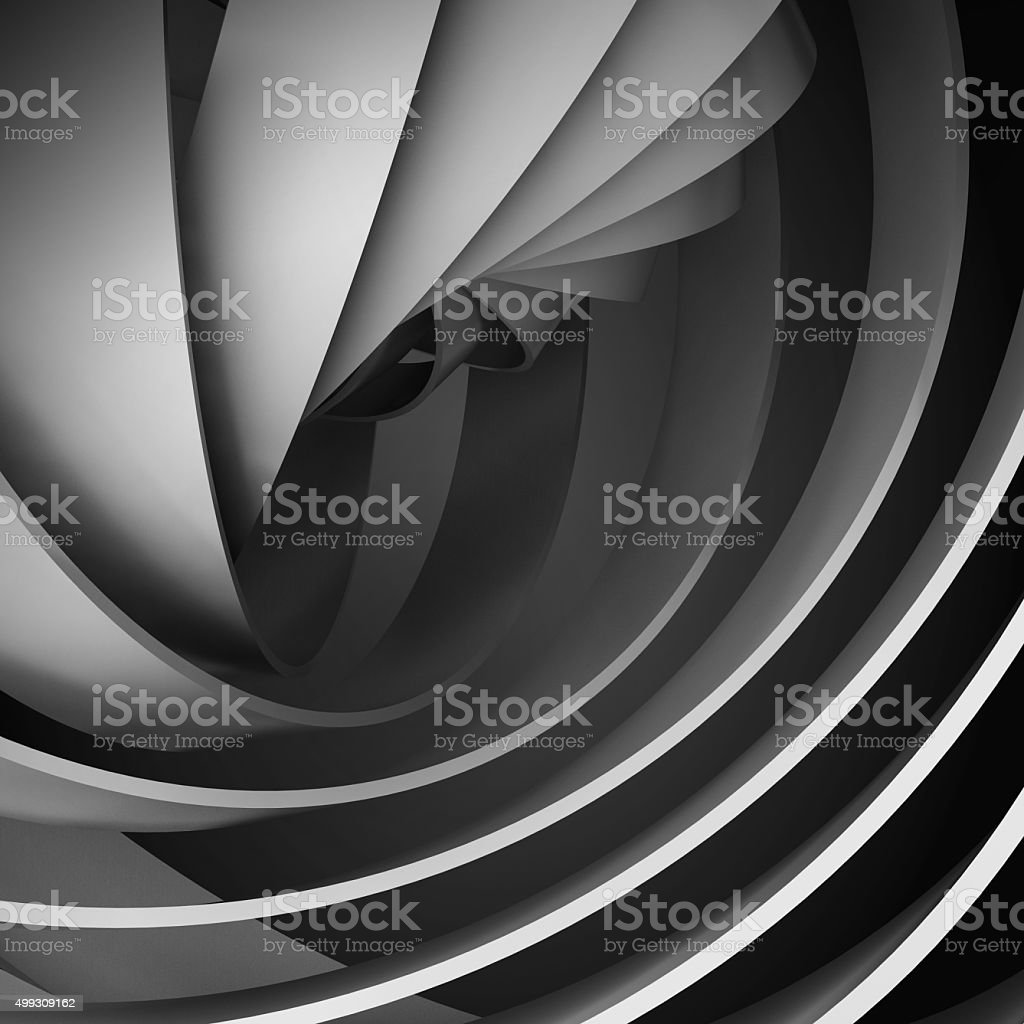 Abstract square digital background with dark 3d spiral stock photo