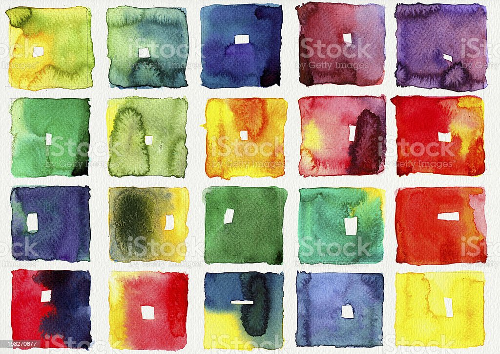 Abstract square watercolor stock photo