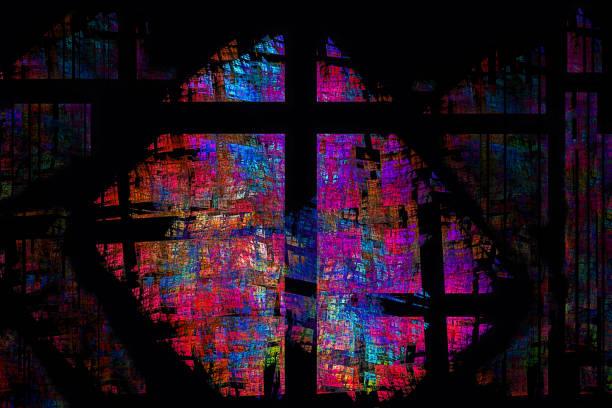 abstrakta glasmålningar cross - kors bildbanksfoton och bilder