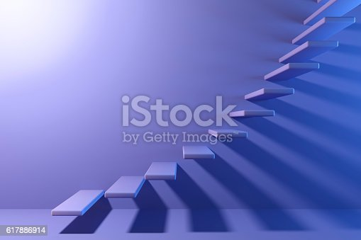 istock Abstract stairs in interior 617886914
