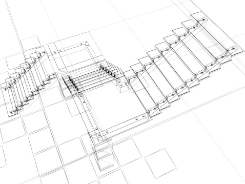 Abstract sketch of stairs