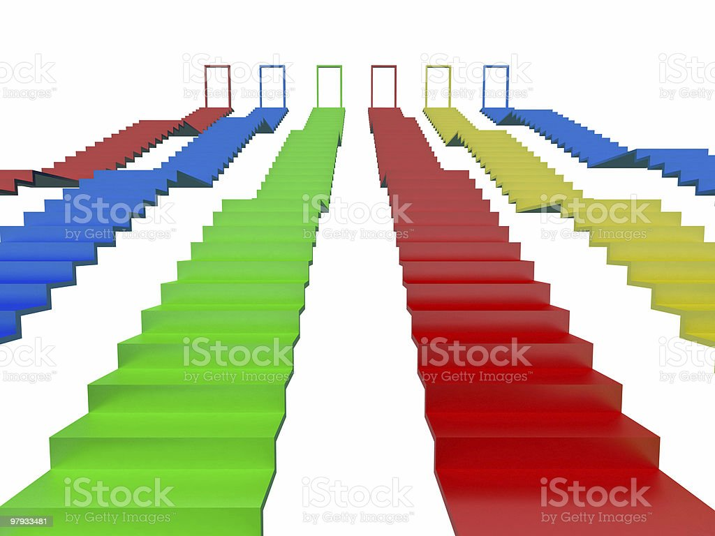 Abstract stairs royalty-free stock photo