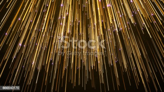 istock Abstract Star Falling Lights Streak Elegant Background 666540170