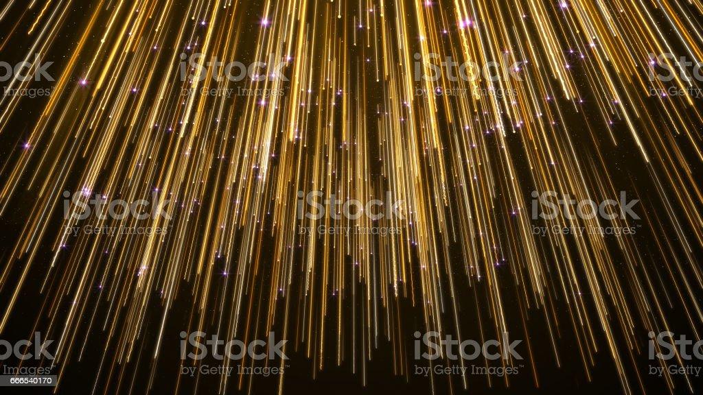 Abstract Star Falling Lights Streak Elegant Background stock photo