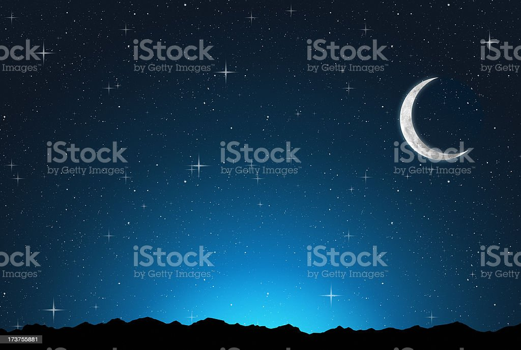 abstract starry night royalty-free stock photo
