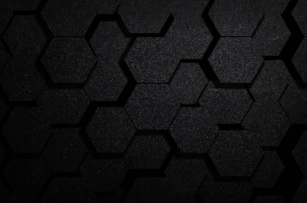 Modèle abstrait acier futuriste surface hexagonale - Photo