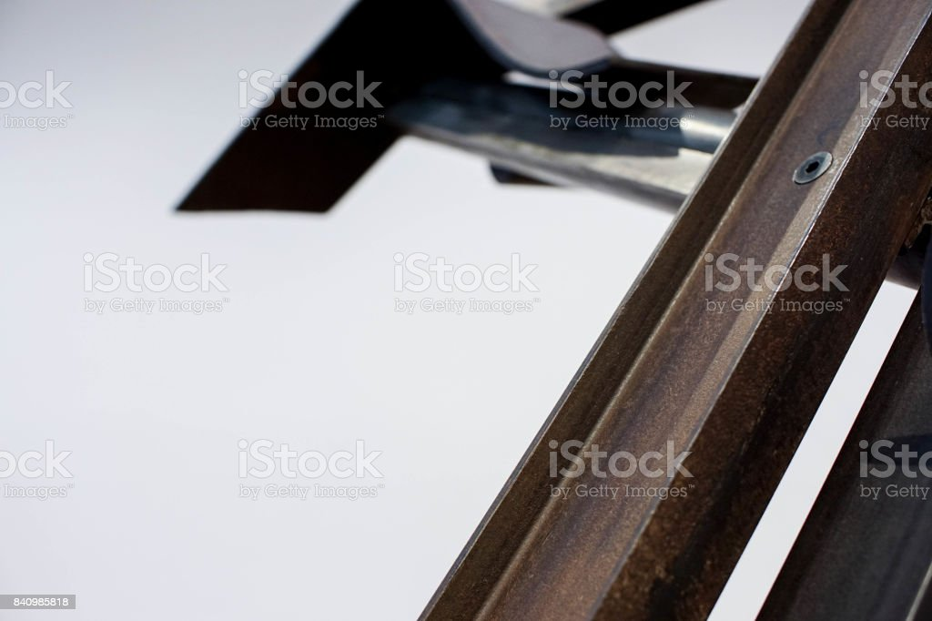 abstract steel tubes and bars stock photo