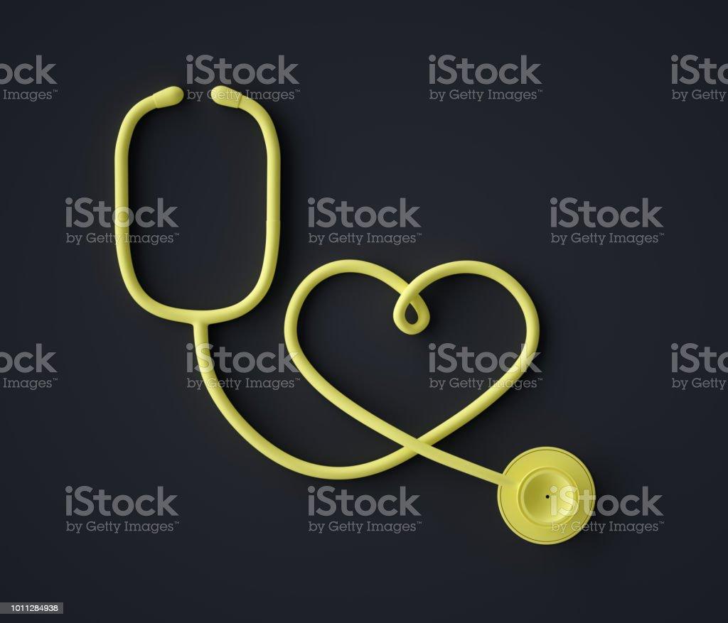 Abstract Stethoscope , Heart Shape Symbol stock photo
