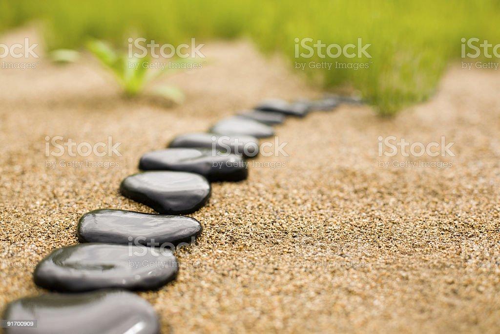 abstract stone path stock photo