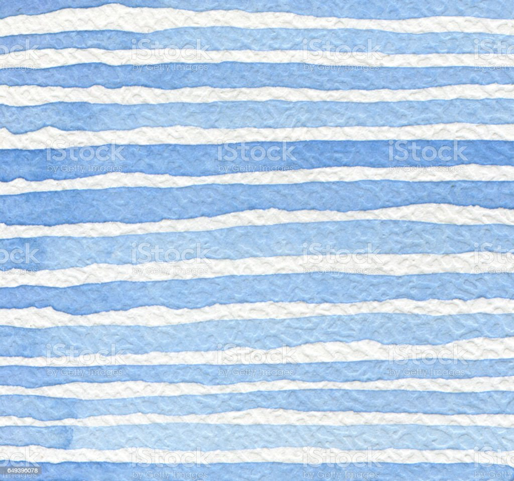 Abstract strip watercolor painted background. Paper texture. stock photo
