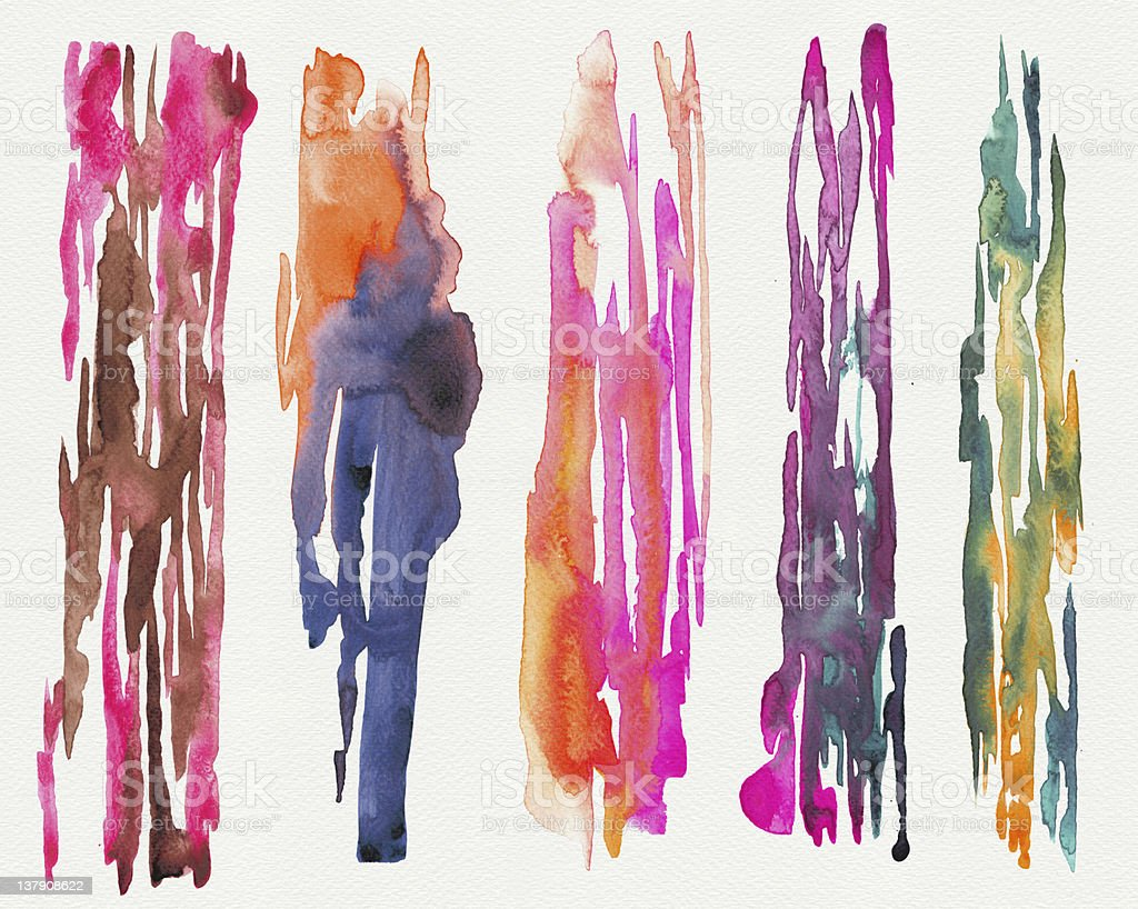 Abstract stripe watercolors royalty-free stock photo