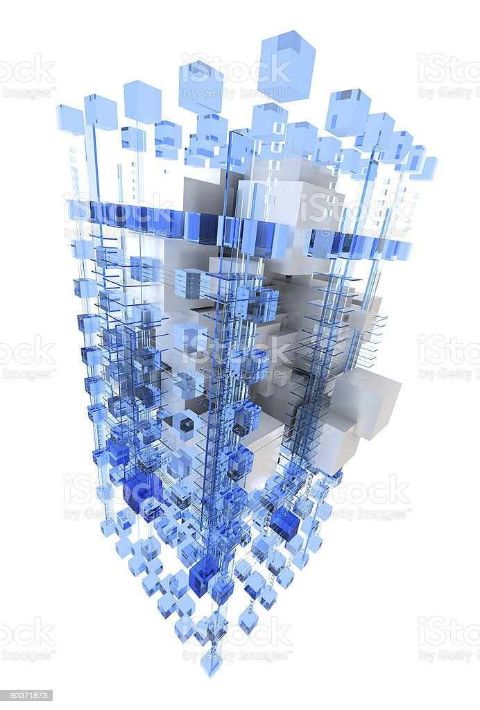 Abstract structure in blue and white royalty-free stock photo