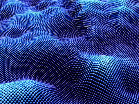 3d wave structure with spheres