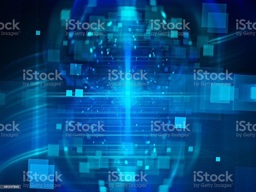 Abstract style illustration depicting microchip stock photo