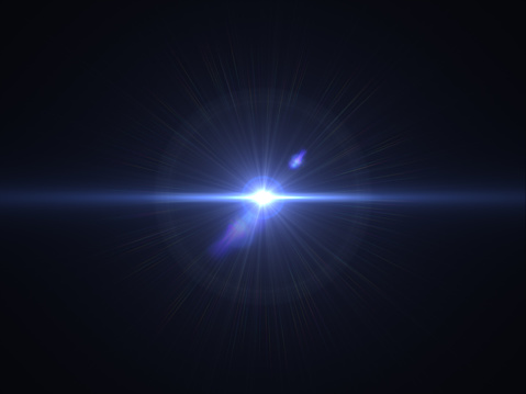 868064724 istock photo Abstract sun burst with digital lens flare light over black background 1001358780