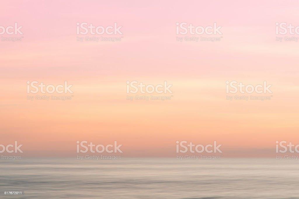 Abstrakte Sonnenaufgang Himmel und Ozean Natur Hintergrund – Foto
