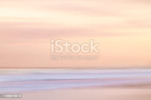 Abstract Tranquil Seascape at sunset in Gold Coast, Australia