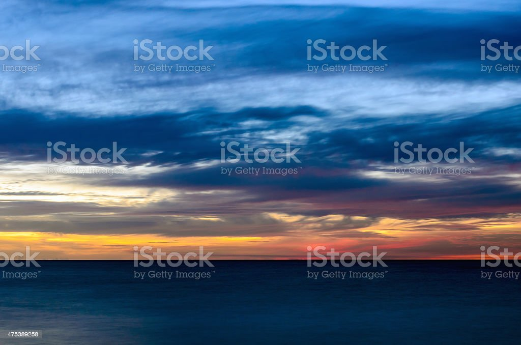 Abstract sunset. Very long exposure. stock photo