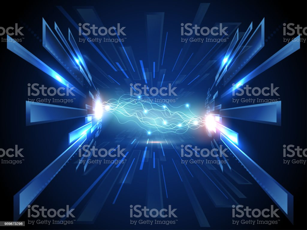 abstract super high speed of lighting technology background stock photo