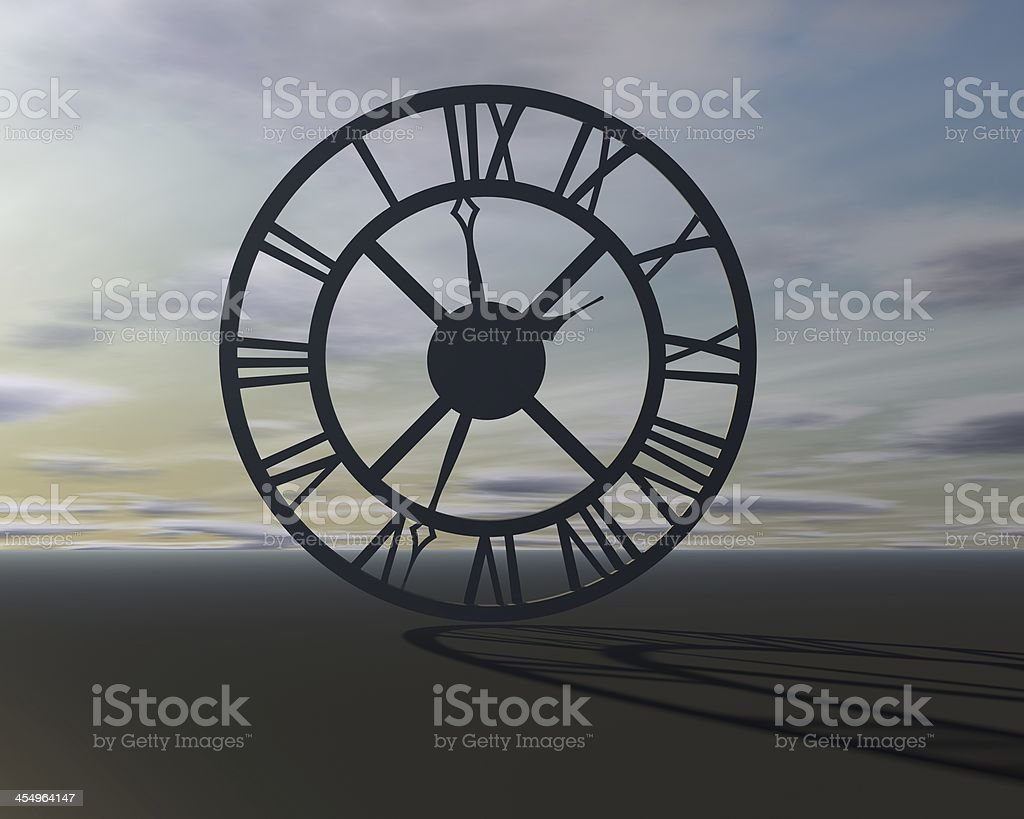 abstract surreal background with clock time symbol stock photo