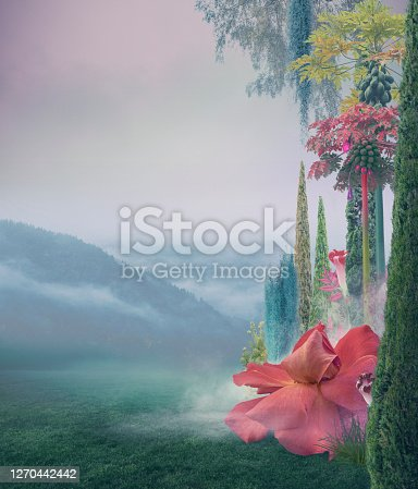 istock Abstract surreal nature background 1270442442