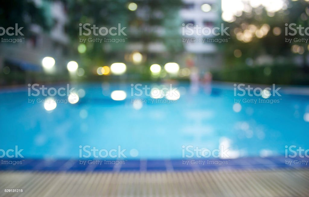 Abstract swimming pool, soft and blur concept stock photo