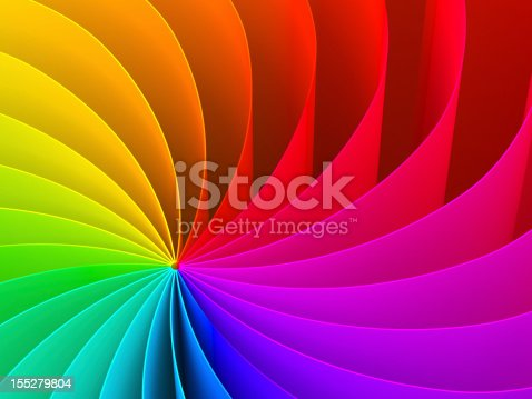 istock Abstract swirl pattern of rainbow color spectrum 155279804