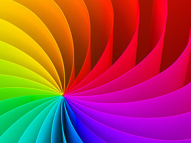 abstract swirl pattern of rainbow color spectrum - 光譜 個照片及圖片檔
