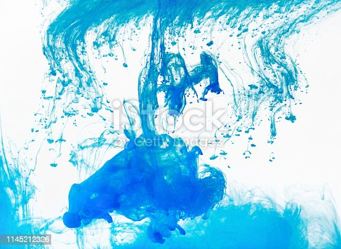 istock Abstract swirls and stains on white 1145212326