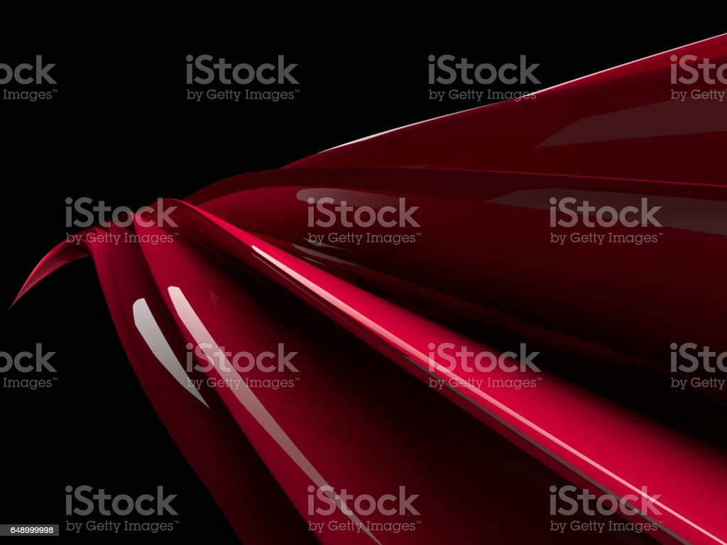 Abstract swirly shape on transparent background. 3D rendering stock photo