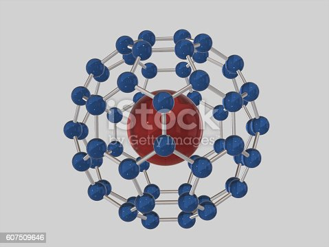 1046643326 istock photo Abstract symbol of atom and molecule .3D rendering 607509646
