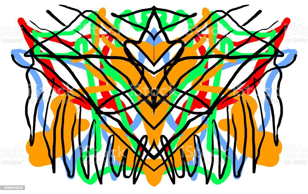 Abstract Symmetric Painting Psychology Test Stock Photo