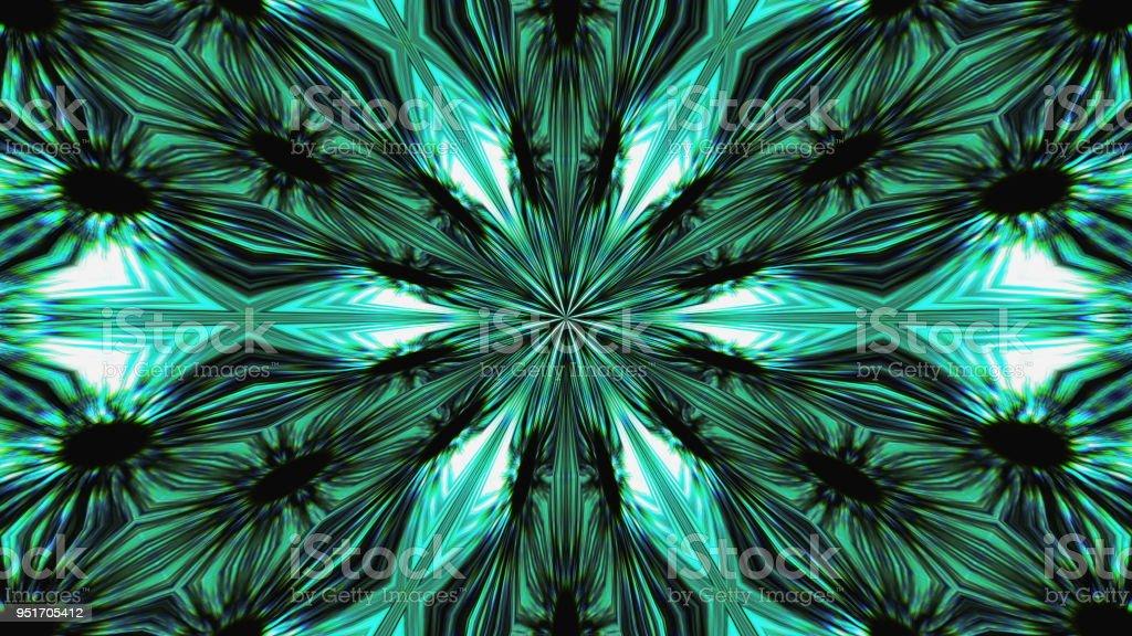 Abstract symmetry beautiful kaleidoscope, 3d rendering background, computer generating stock photo
