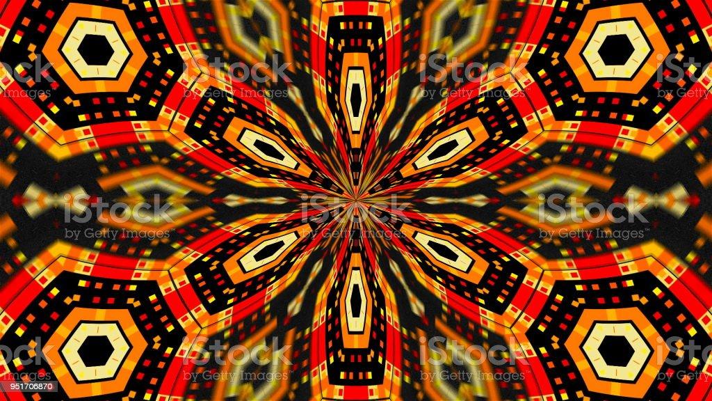 Abstract symmetry techlonogy kaleidoscope, 3d render backdrop, computer generating stock photo