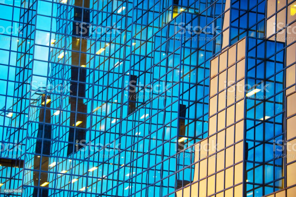 Abstract, tall building, London stock photo