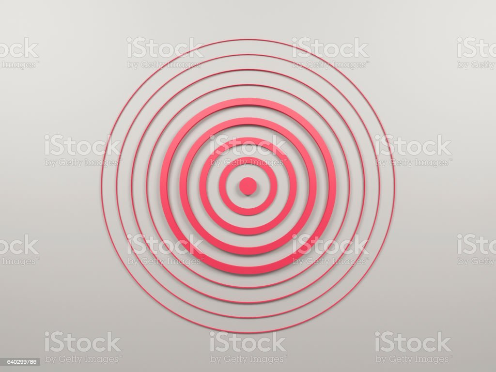 Abstract target stock photo