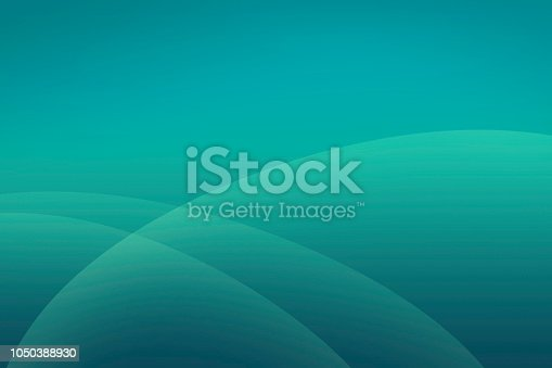 Abstract Teal Background with Simple Soft Overlapping Curved Shapes