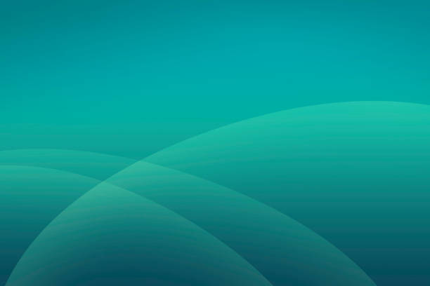 abstract teal background with soft curved minimalist shapes - teal backgrounds stock photos and pictures