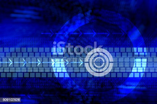 537390268 istock photo Abstract tech binary blue background 509102526