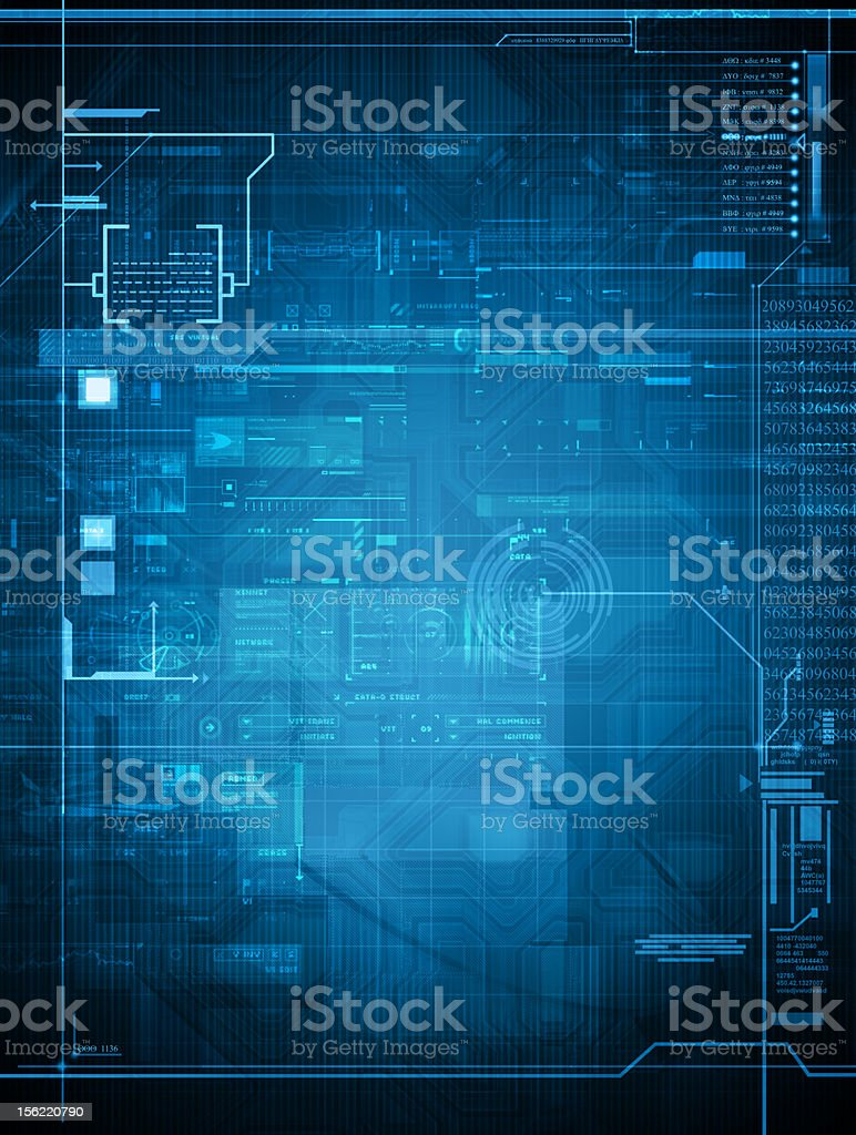 abstract tech design stock photo