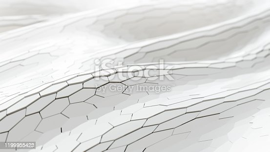 626187518istockphoto Abstract Technical 3D hexagonal white background pattern 1199955423