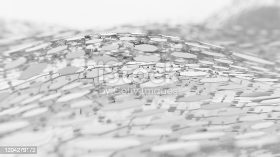 626187518istockphoto Abstract Technical 3D hexagonal white background pattern 1204279172