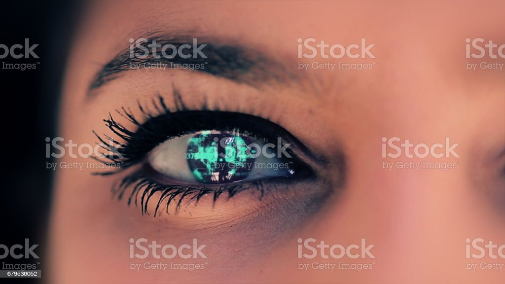 Abstract techno eye background royalty-free stock photo