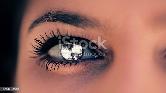 652426098 istock photo Abstract techno eye background 679619848