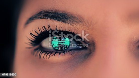 652426098 istock photo Abstract techno eye background 679619850
